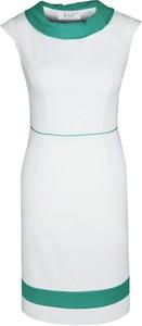 Sukienka Fokus w stylu klasycznym z krótkim rękawem z okrągłym dekoltem