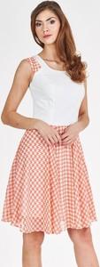 Sukienka Fokus bez rękawów w stylu retro z okrągłym dekoltem