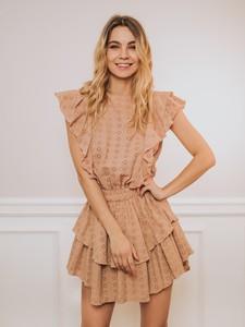 Sukienka Promese z bawełny z krótkim rękawem