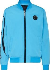 Niebieska kurtka Philipp Plein krótka