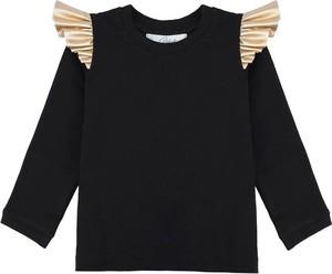 Czarna bluzka dziecięca Elefunt z bawełny