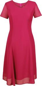 Sukienka Fokus midi z szyfonu rozkloszowana