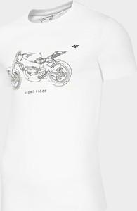 T-shirt 4F z krótkim rękawem w młodzieżowym stylu