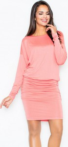 Różowa sukienka Figl z długim rękawem ołówkowa