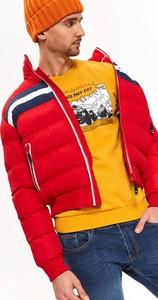 Czerwona kurtka Top Secret w stylu casual