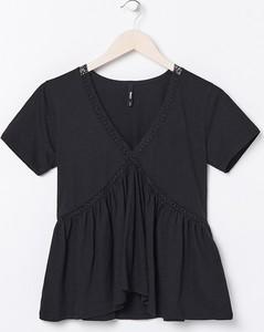 Czarna bluzka Sinsay