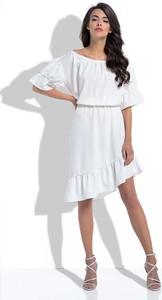 Sukienka Fobya z okrągłym dekoltem midi
