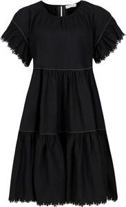 Sukienka Silvian Heach w stylu casual z krótkim rękawem midi