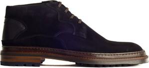 Granatowe buty zimowe Floris Van Bommel w stylu casual