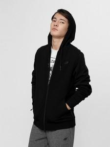 Czarna bluza 4F z bawełny w młodzieżowym stylu