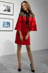 Czerwona sukienka IVET.PL