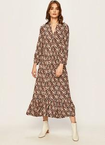 Sukienka Calvin Klein z długim rękawem maxi