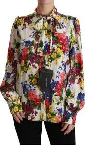 Bluzka Dolce & Gabbana z okrągłym dekoltem z długim rękawem