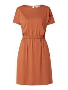 Brązowa sukienka ARMEDANGELS mini w stylu casual ze skóry ekologicznej