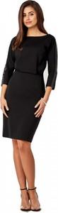 Czarna sukienka POTIS & VERSO mini z długim rękawem
