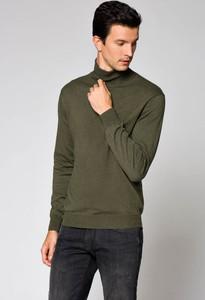 Zielony sweter LANCERTO z bawełny