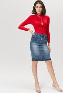 Niebieska spódnica FEMESTAGE Eva Minge z jeansu