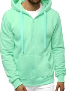 Zielona bluza ozonee.pl z bawełny w młodzieżowym stylu