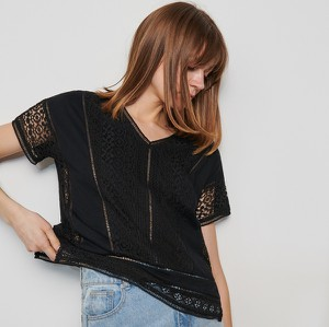 Czarna bluzka Reserved w stylu casual