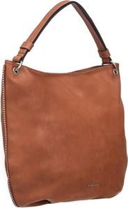 Brązowa torebka PUCCINI w stylu casual duża