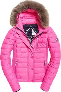 Różowa kurtka Superdry w stylu casual krótka
