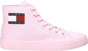 Różowe trampki Tommy Jeans