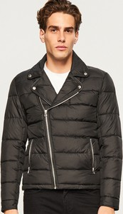 Czarna kurtka Reserved w rockowym stylu