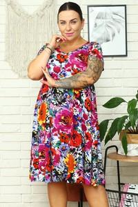 Sukienka KARKO z krótkim rękawem mini hiszpanka
