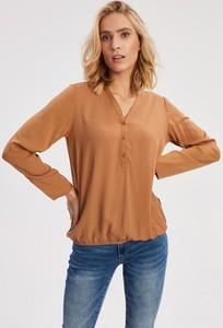 Brązowa koszula Diverse z długim rękawem z tkaniny