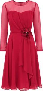 Sukienka POTIS & VERSO z długim rękawem z szyfonu mini
