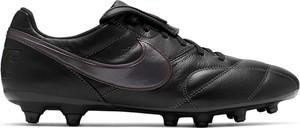 Czarne buty sportowe Nike ze skóry w sportowym stylu sznurowane