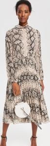 Sukienka Reserved midi w stylu klasycznym