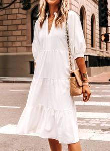 Sukienka Cikelly maxi z dekoltem w kształcie litery v oversize