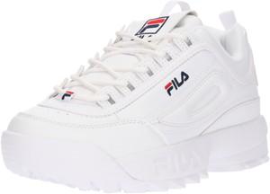 Buty sportowe Fila sznurowane ze skóry w młodzieżowym stylu