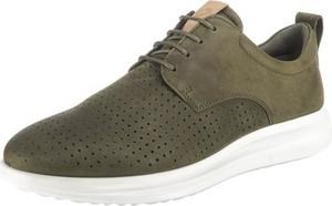 Zielone buty sportowe Ecco sznurowane