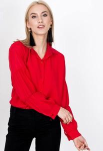 Czerwona koszula Zoio z długim rękawem z kołnierzykiem