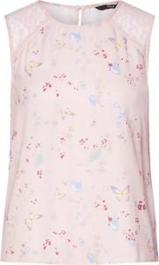 Różowa bluzka Only z dżerseju z okrągłym dekoltem