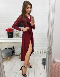 fdd10fd48c Sukienka Dstreet z długim rękawem asymetryczna maxi