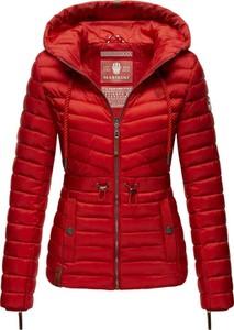 Czerwona kurtka Marikoo w stylu casual krótka