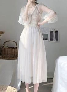 Sukienka Arilook z długim rękawem z dekoltem w kształcie litery v