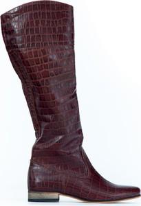 Kozaki Zapato z płaską podeszwą przed kolano z nubuku