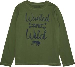 Zielona koszulka dziecięca Review For Kids z bawełny