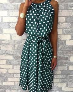 Sukienka Kendallme z bawełny z okrągłym dekoltem bez rękawów