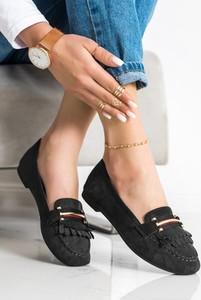 Czarne buty Czasnabuty z płaską podeszwą