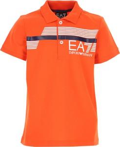 Pomarańczowa koszulka dziecięca Emporio Armani