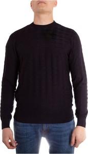 Sweter Emporio Armani z wełny z okrągłym dekoltem w stylu casual