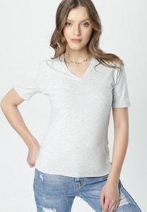 Bluzka born2be z krótkim rękawem w młodzieżowym stylu z okrągłym dekoltem