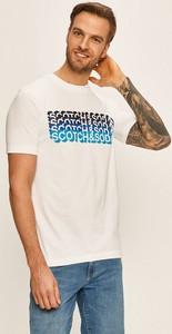 T-shirt Scotch & Soda z dzianiny z krótkim rękawem