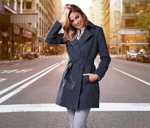 Płaszcz Tchibo w stylu casual z bawełny