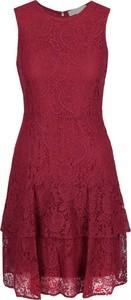 Sukienka Michael Kors midi bez rękawów z okrągłym dekoltem